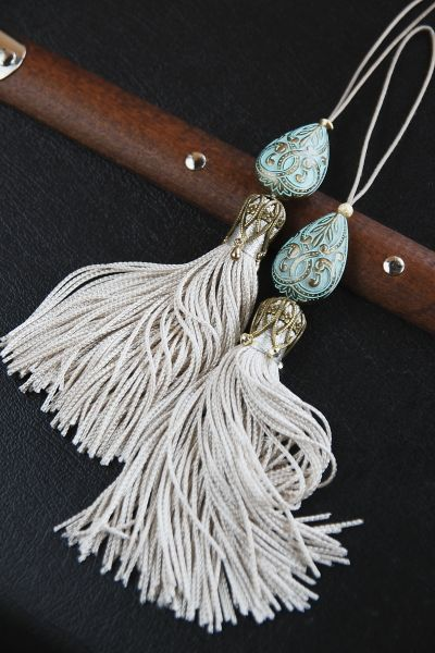 Bookmarks Monrocco 10 Pack Handmade Silky Floss Tassels with Cord Loop Chunky Tassels for Jewelry Making DIY Projects