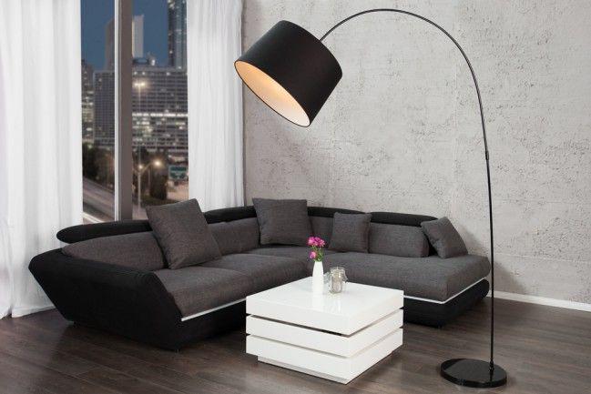Wohnzimmer Stehleuchte ~ Design stehleuchte forma schwarz weiß bogenlampe bogenleuchte