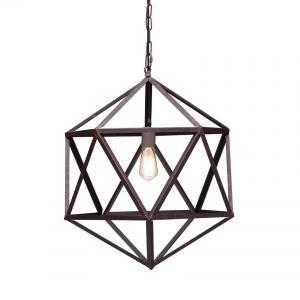 Amethyst Ceiling Lamp Small Rust //