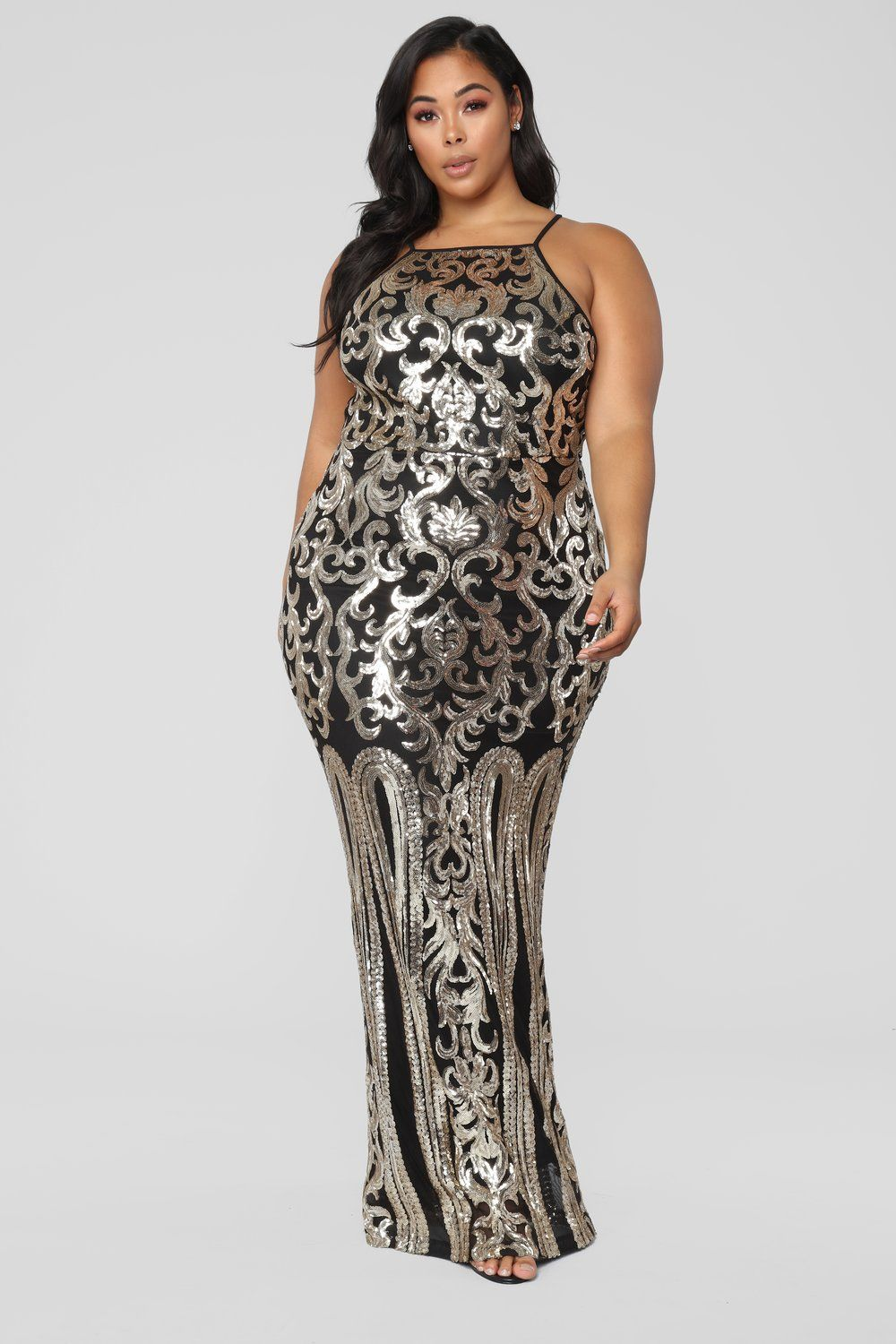 I\'m The One Sequin Dress - Black in 2019 | Plus size | Black ...