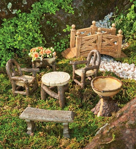 Very Garden Furniture Fairy garden furniture set very cute fairy gardens pinterest fairy garden furniture set very cute workwithnaturefo