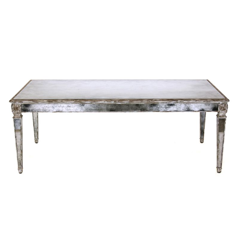 Vintage Glam Coffee Table Marilyn Mirrored Coffee Table   Antiqued Mirror