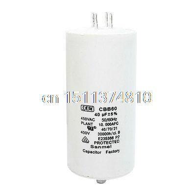 Cbb60 Ac 450v 40uf 8mm Thread Male Screw Polypropylene Film Motor Run Capacitor Capacitor Hardware Aliexpress