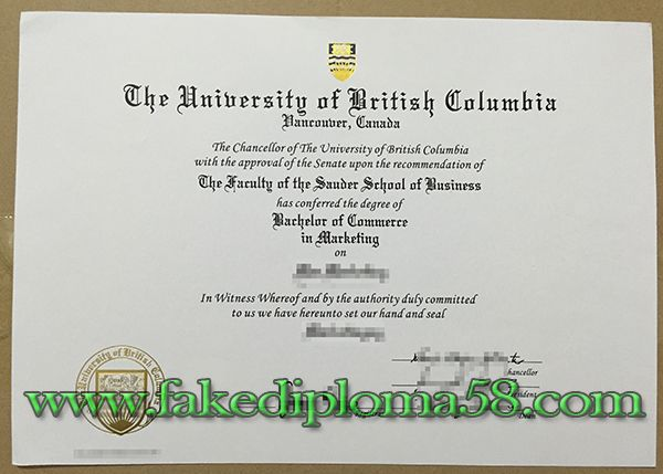 University of British Columbia UBC degree, buy fake degree, buy fake - copy certificate picture