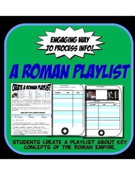A Ancient Roman Playlist Fun Activity | 6th Grade History
