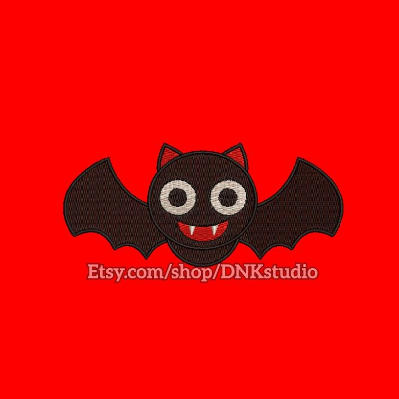 Bat Embroidery Design Instant This Manually Made By Hand From Start To