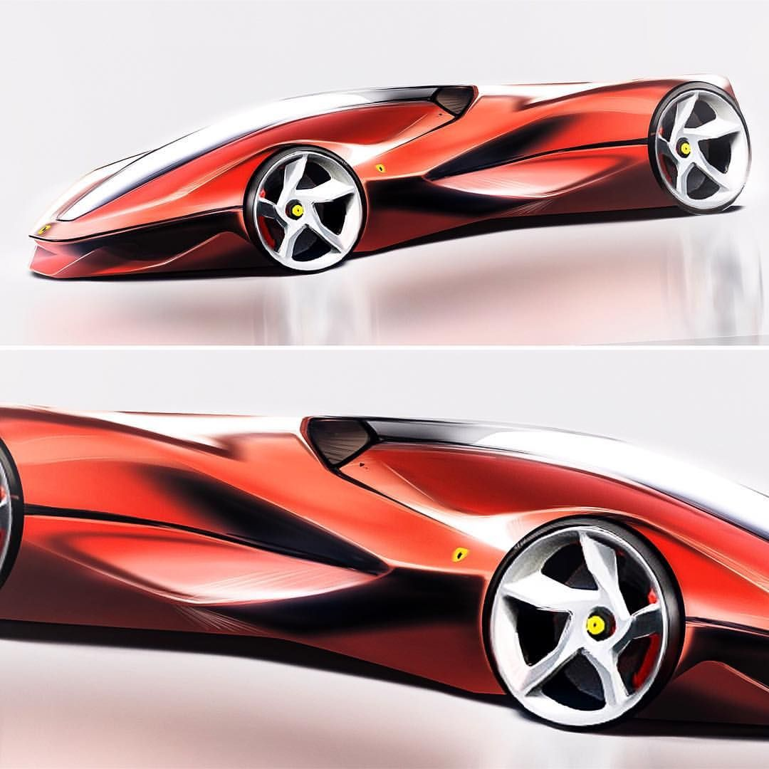 Some Sketch Ferrari Design Cardesign Carsketch Car Transportationdesign Automotivedesign 3dmodel Adob Car Design Futuristic Cars Concept Car Design