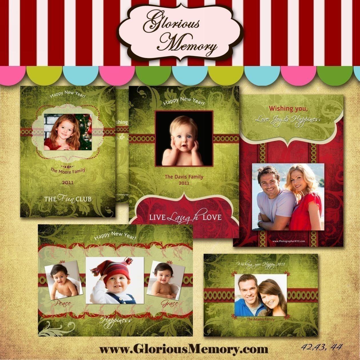 Christmas Card Templates Holiday Photo Card