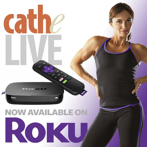 Cathe Live and OnDemand Roku Channel Instructions Greek