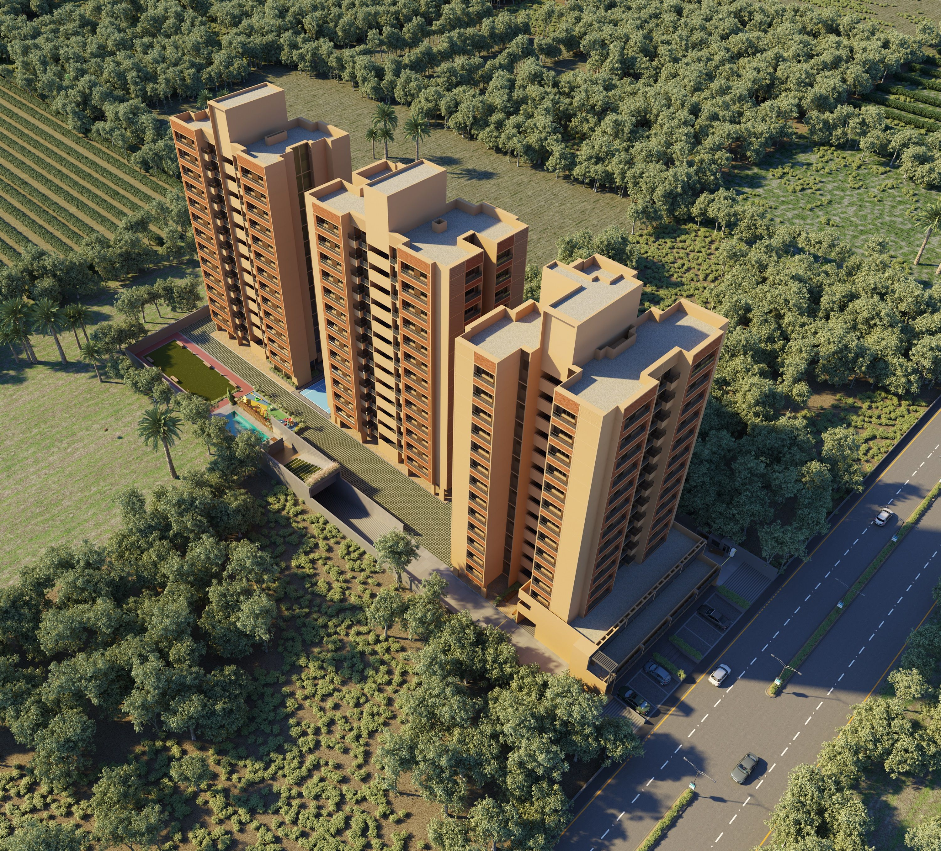 An East Facing 2 Bhk Apartment In South Bopal Ahmedabad West Is