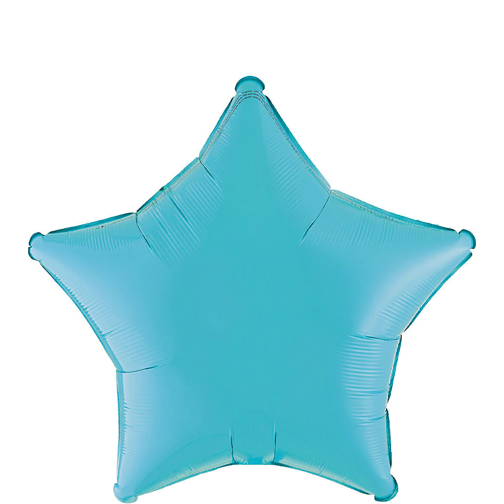 Caribbean Blue Star Balloon in 2020 Party city balloons
