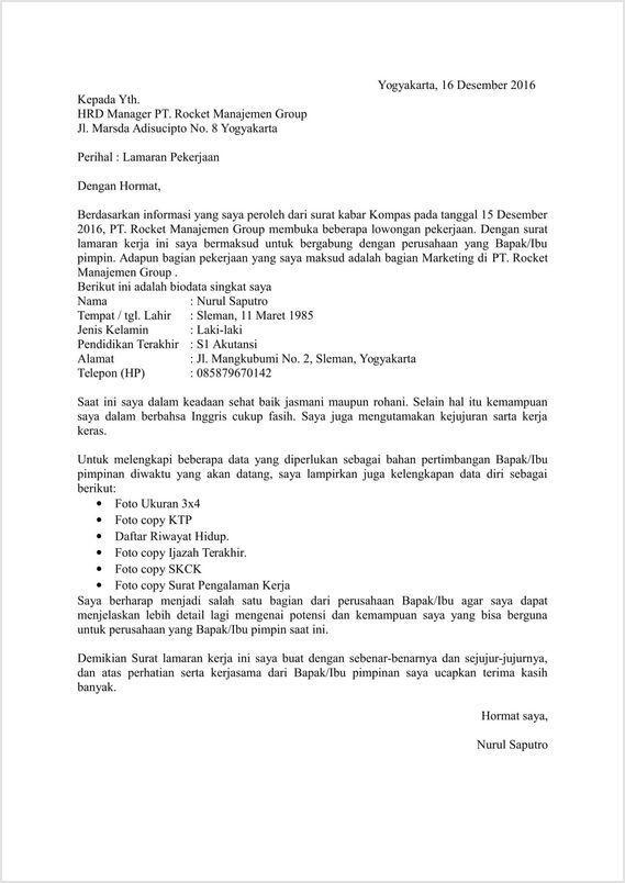 Cara Membuat Surat Lamaran Kerja (Dengan Contoh DOC, PDF)
