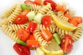 Pasta and vegetables with warm lemon!