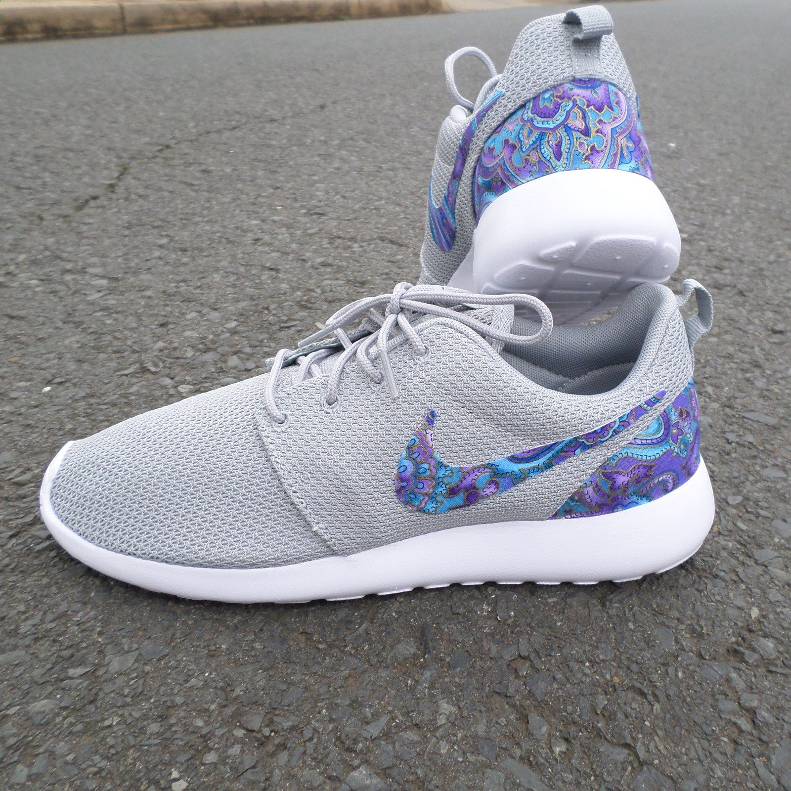 Custom Nike Roshe One Teal Purple Paisley / Customs x Cario
