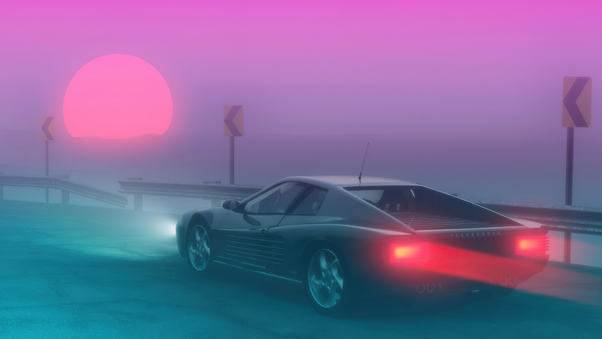 Pin By Trevor Elia On Cars Synthwave Wallpaper Retro Futurism