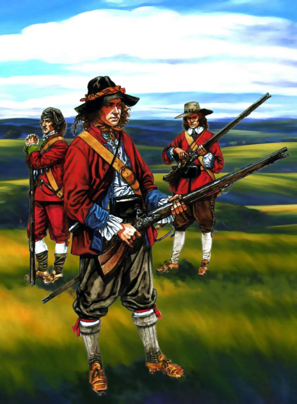 Musketeers of the New Model Army Civil war art, Military