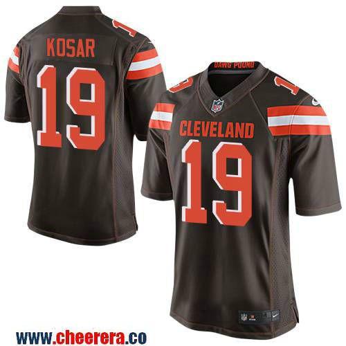 mens cleveland browns 19 bernie kosar retired brown stitched nfl nike elite jersey