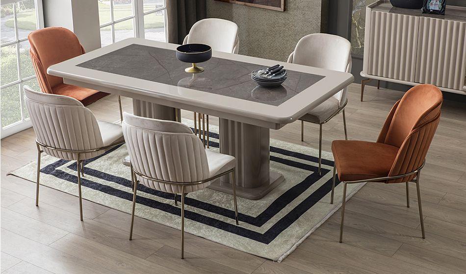 salkim yemek masasi takimi mobilya luks mutfaklar ev icin