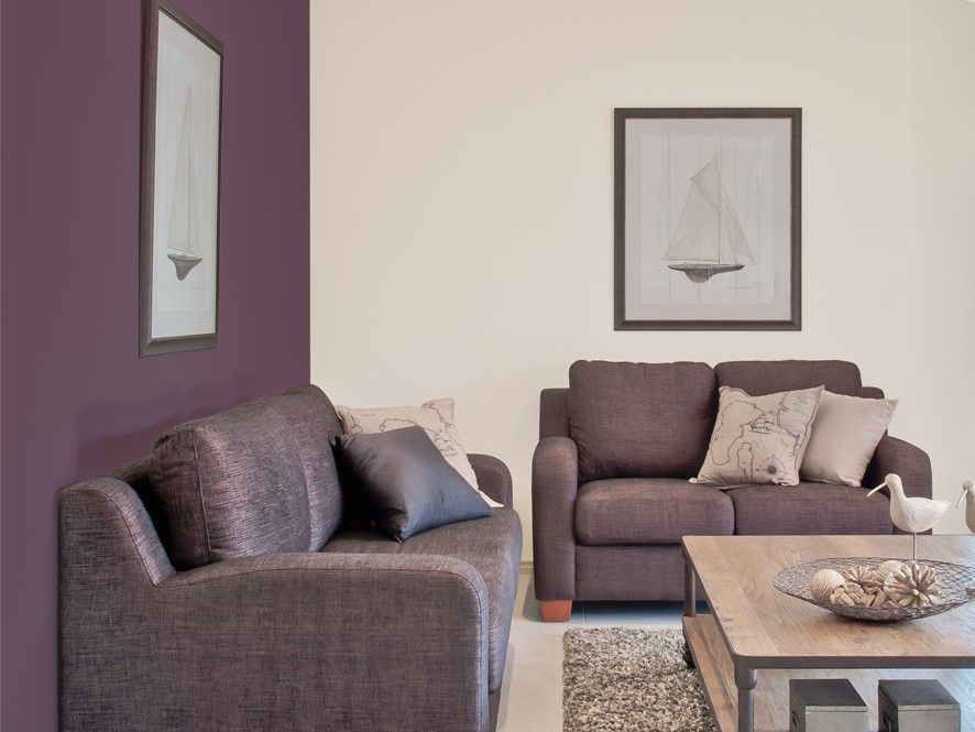 Superbe Purple Feature Wall Lounge Room   Inspirations Paint: Mobile