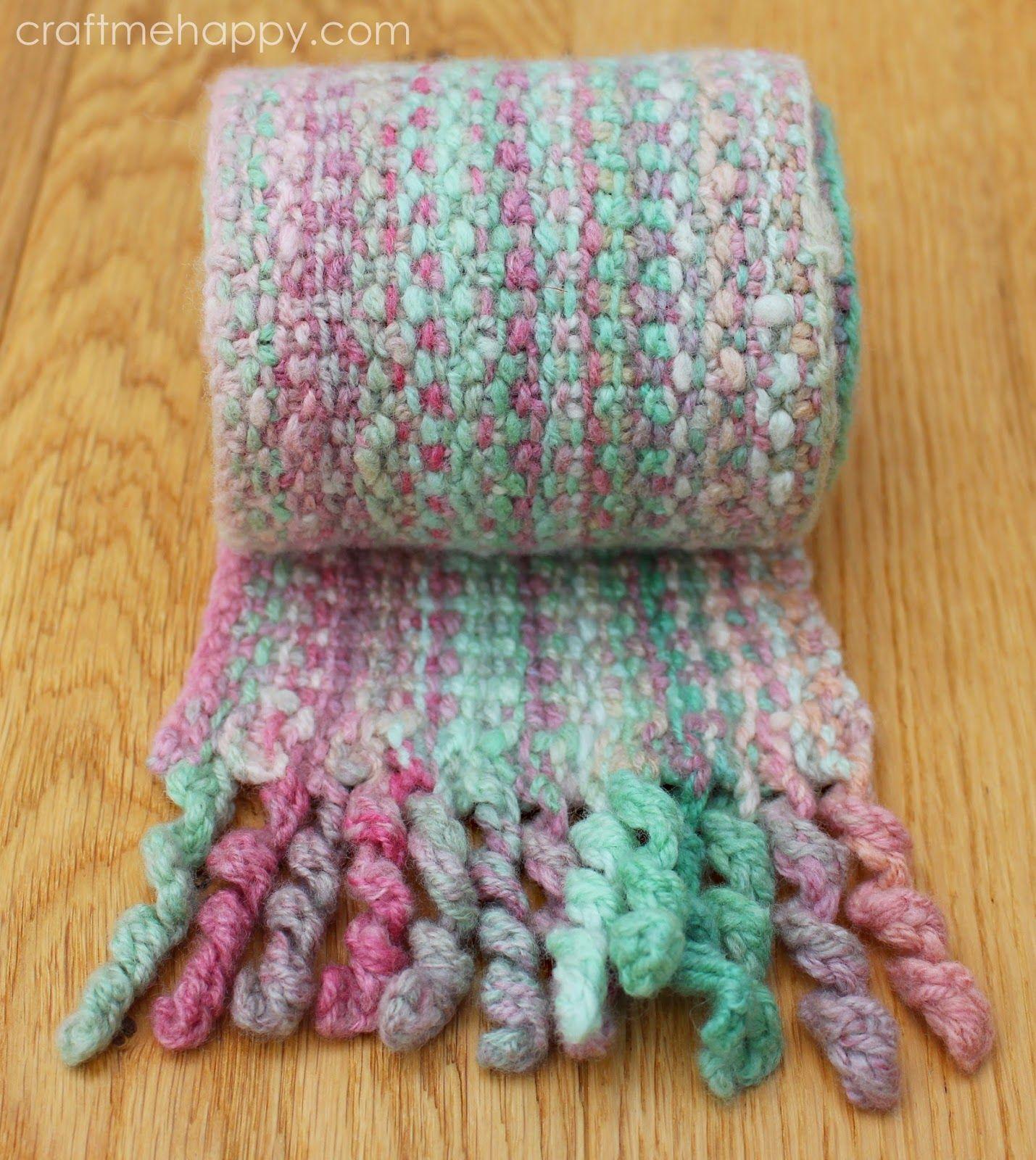 Bouclé Stitch Curlicue Scarf Pattern   Scarf knitting ...