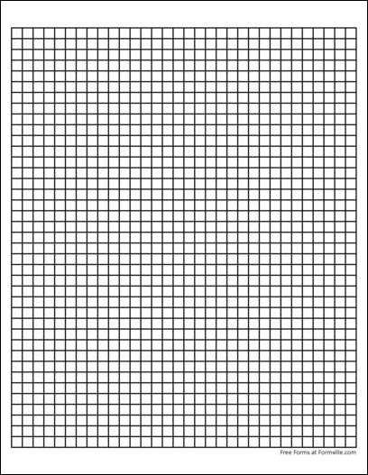 heavy line Graph Paper (4 Squares per Inch ) | Paper Maniac ...