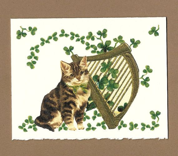 CLEARANCE Happy Saint Patricks Day Card Victorian