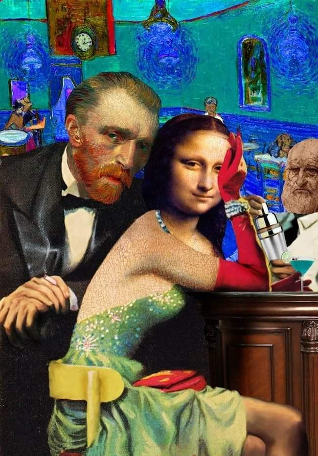 mona Lisa and van gogh. collage by Barry kite   Classic ...