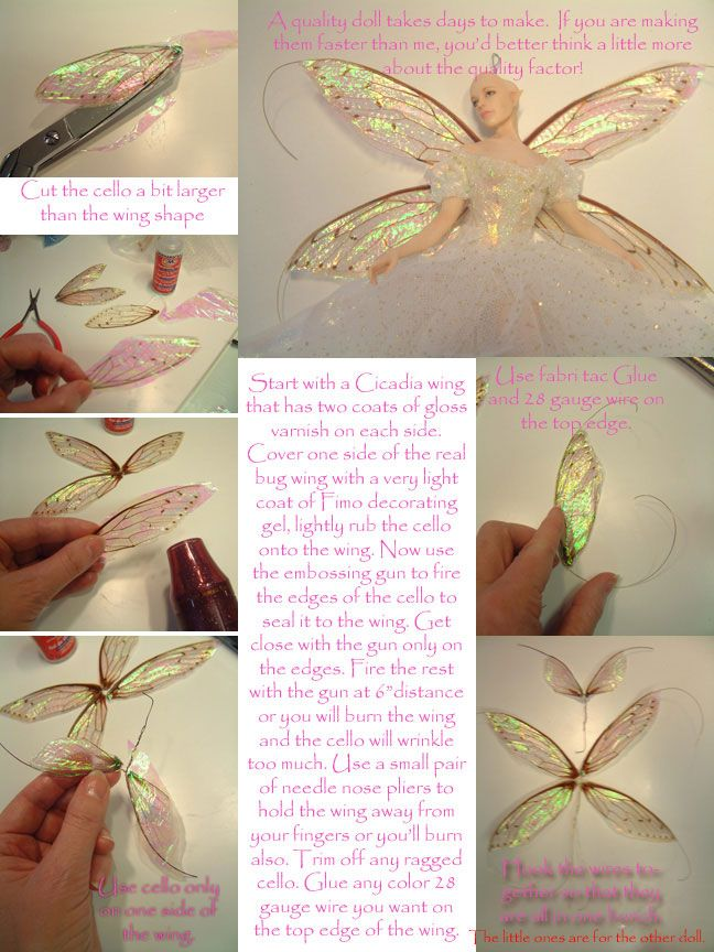 how to make cellophane wings
