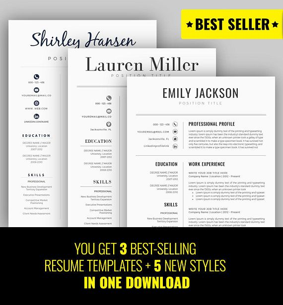 EXCLUSIVE DEAL! Get 8 resume templates + 8 Matching Cover Letters - resume deal