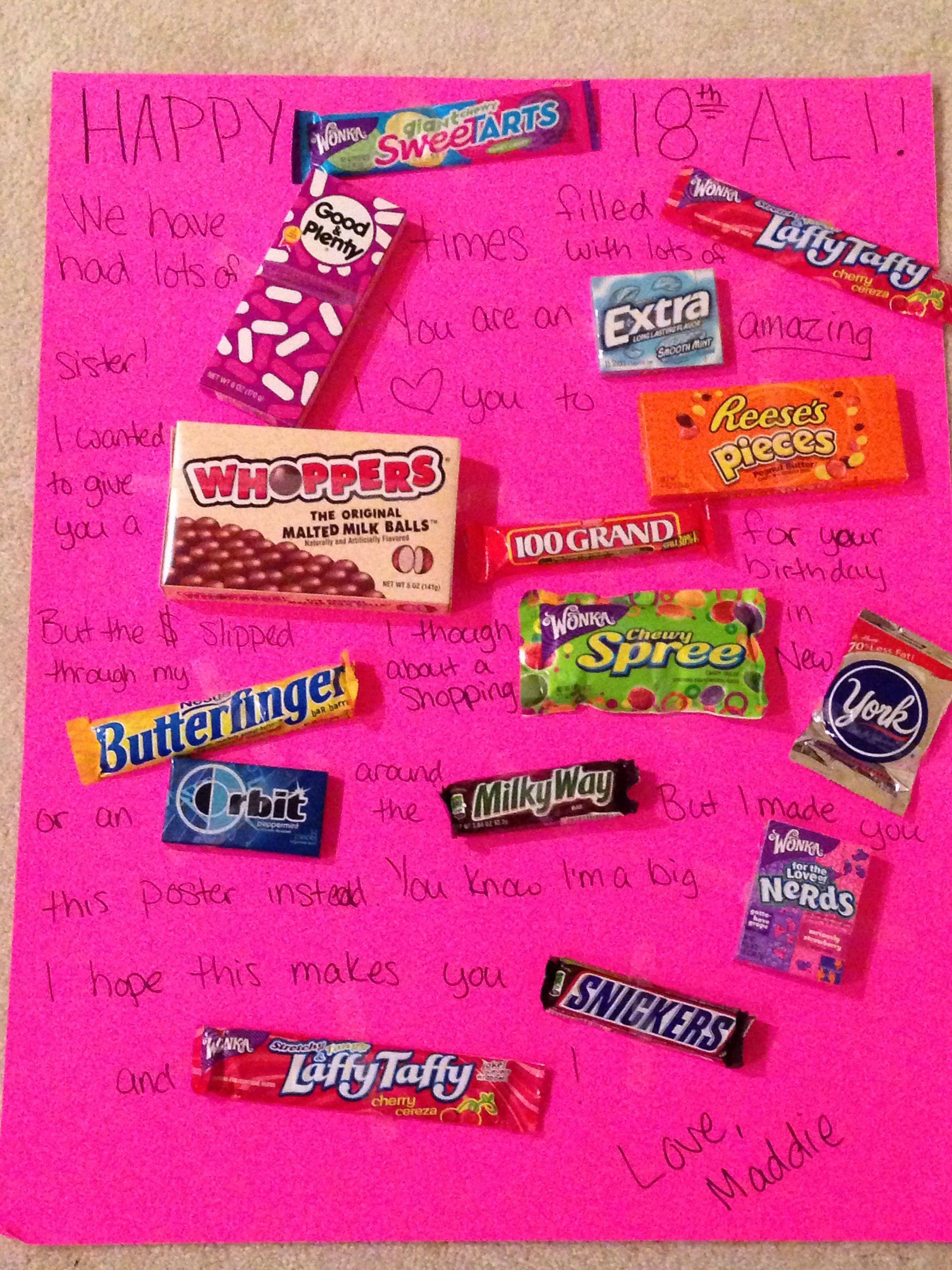 Happy birthday candy poster | Crafts | Happy birthday ...