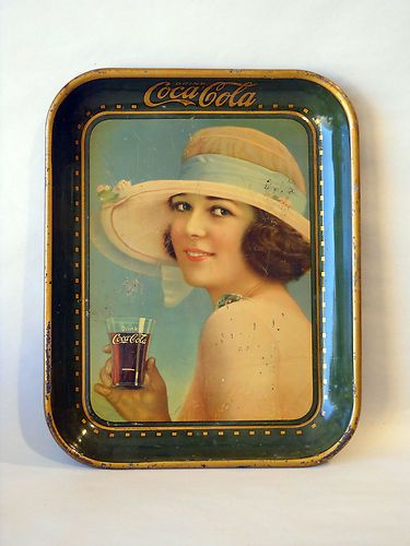 Details about COCA COLA COKE TRAY 1921 SUMMER GIRL H D  BEACH CO