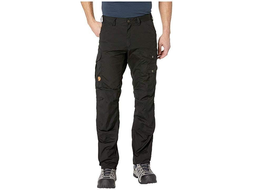 a7fae1fe571a10 Fjallraven Barents Pro Trousers (Black/Black) Men's Casual Pants. Take to  the