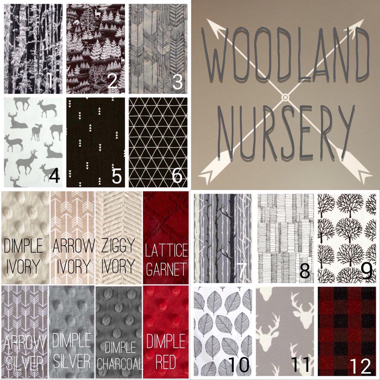 Woodland Nursery Crib Bedding Set Hunting Crib Bedding