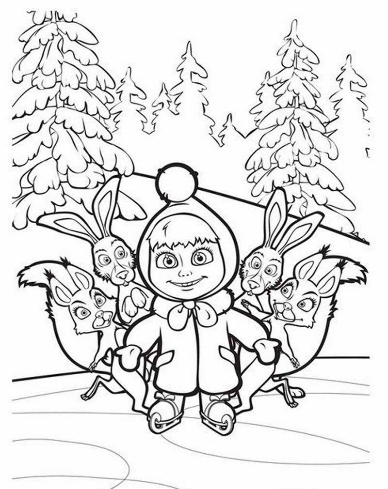 Masha And The Bear Wiki Cartoons Wallpapers High Qualitycartoons Decoracao Masha E Urso Masha E O Urso Colorir