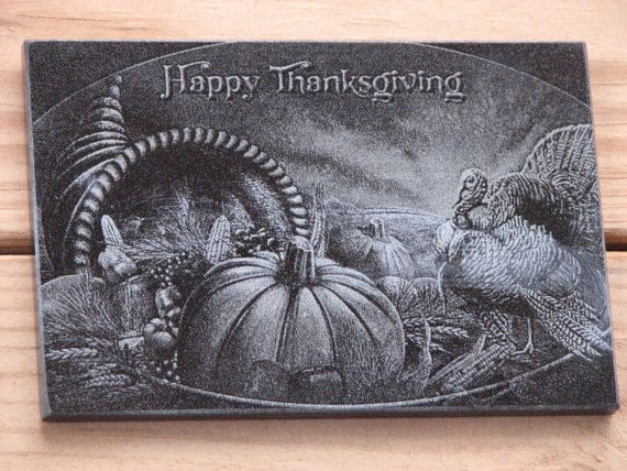 Laser Engraved Granite Tile Happy By Timbercreekcountry On Etsy With Images Laser Engraving Granite Tile Engraved Items