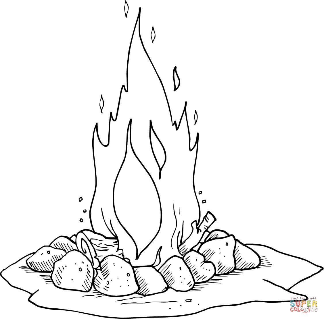 Campfire Coloring Page Coloring Pages Coloring Pages