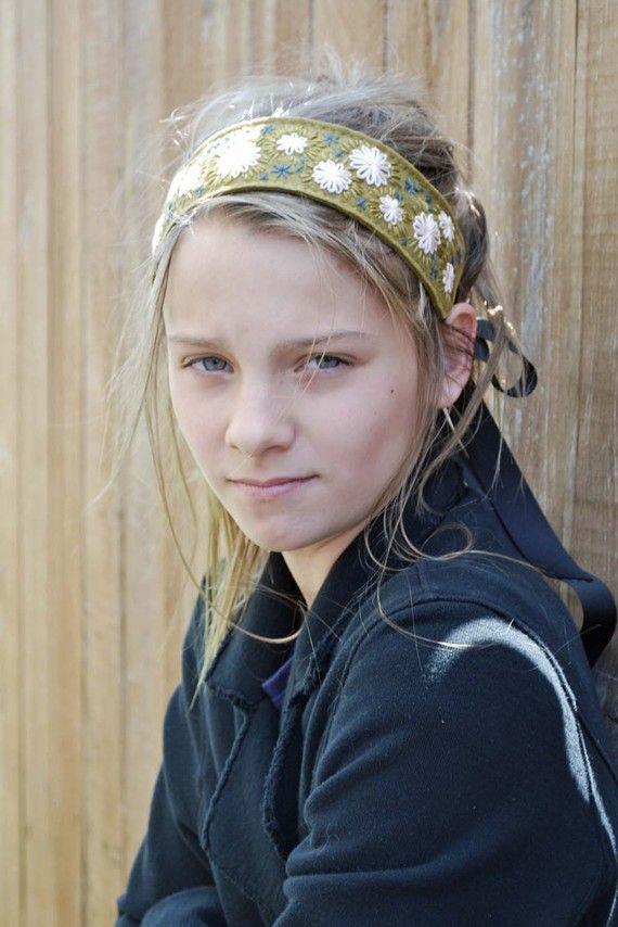 Handembroidered headbands