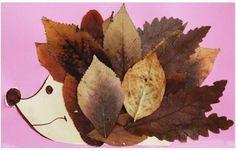 Igel Kindermalerei Bastel Ideen Herbst #kastanienbastelnkinder