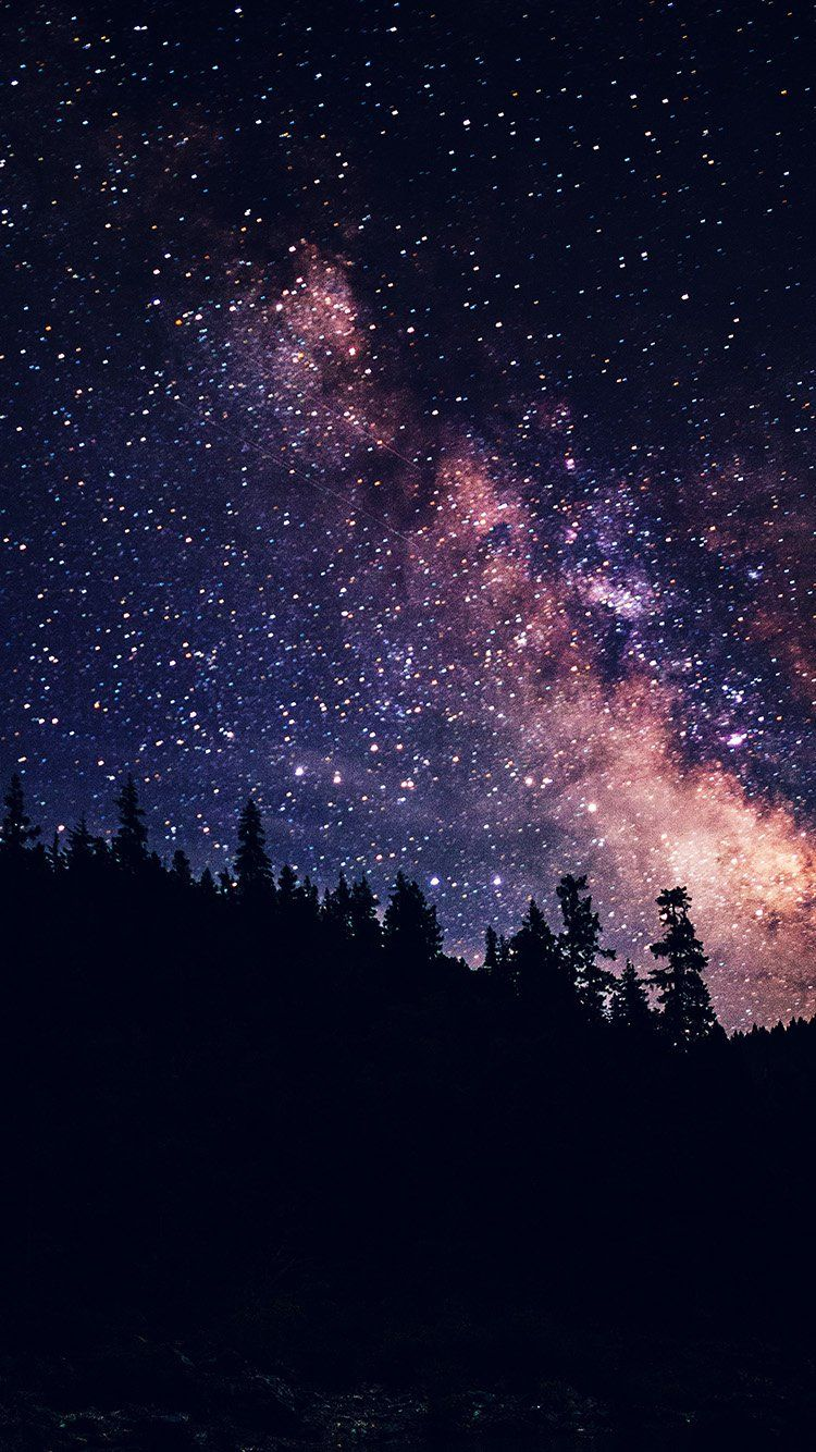 Night Sky Dark Space Milkyway Star Nature Wallpaper Hd Iphone Night Sky Wallpaper Night Sky Photography Scenery Wallpaper