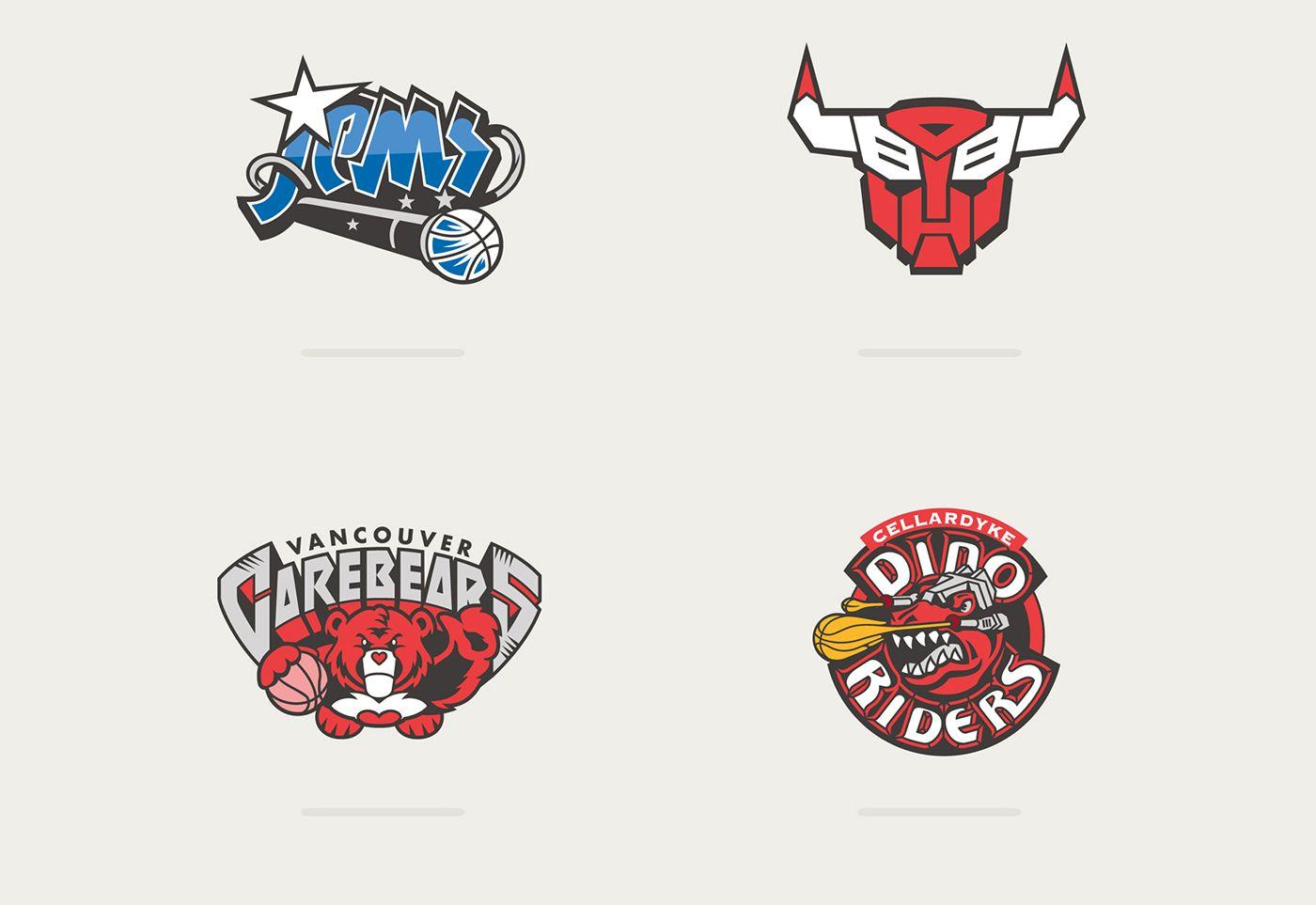 Les Logos De Franchises Nba Version Cartoons Nba Fashion Basketball Art Classic Cartoons