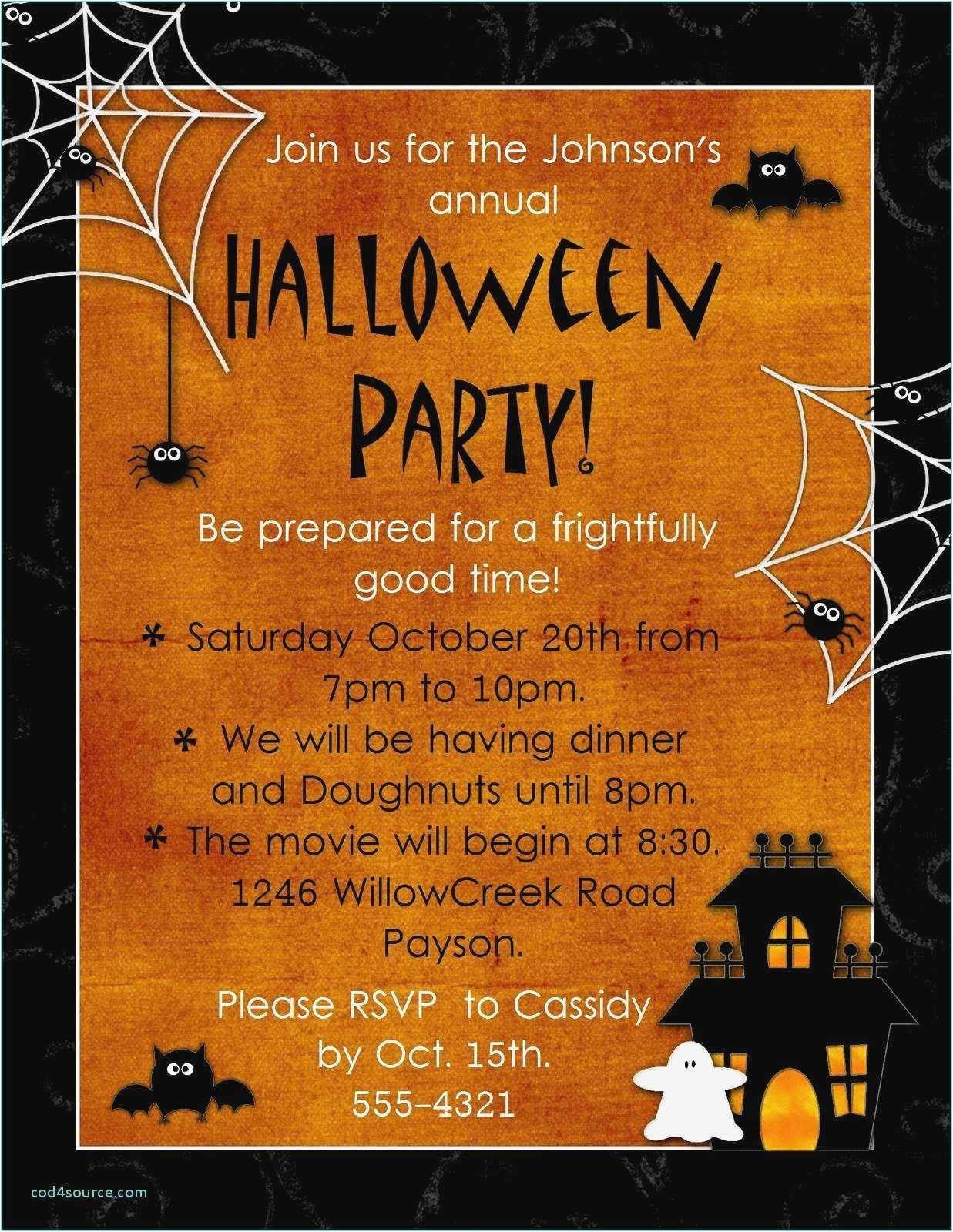 Halloween Cards Ideas Inspirational Free Download 50 Free Printable Invit Party Invite Template Halloween Party Invitation Template Halloween Party Invitations