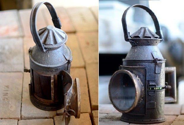 Afh found brass railroad lantern pinterest antique