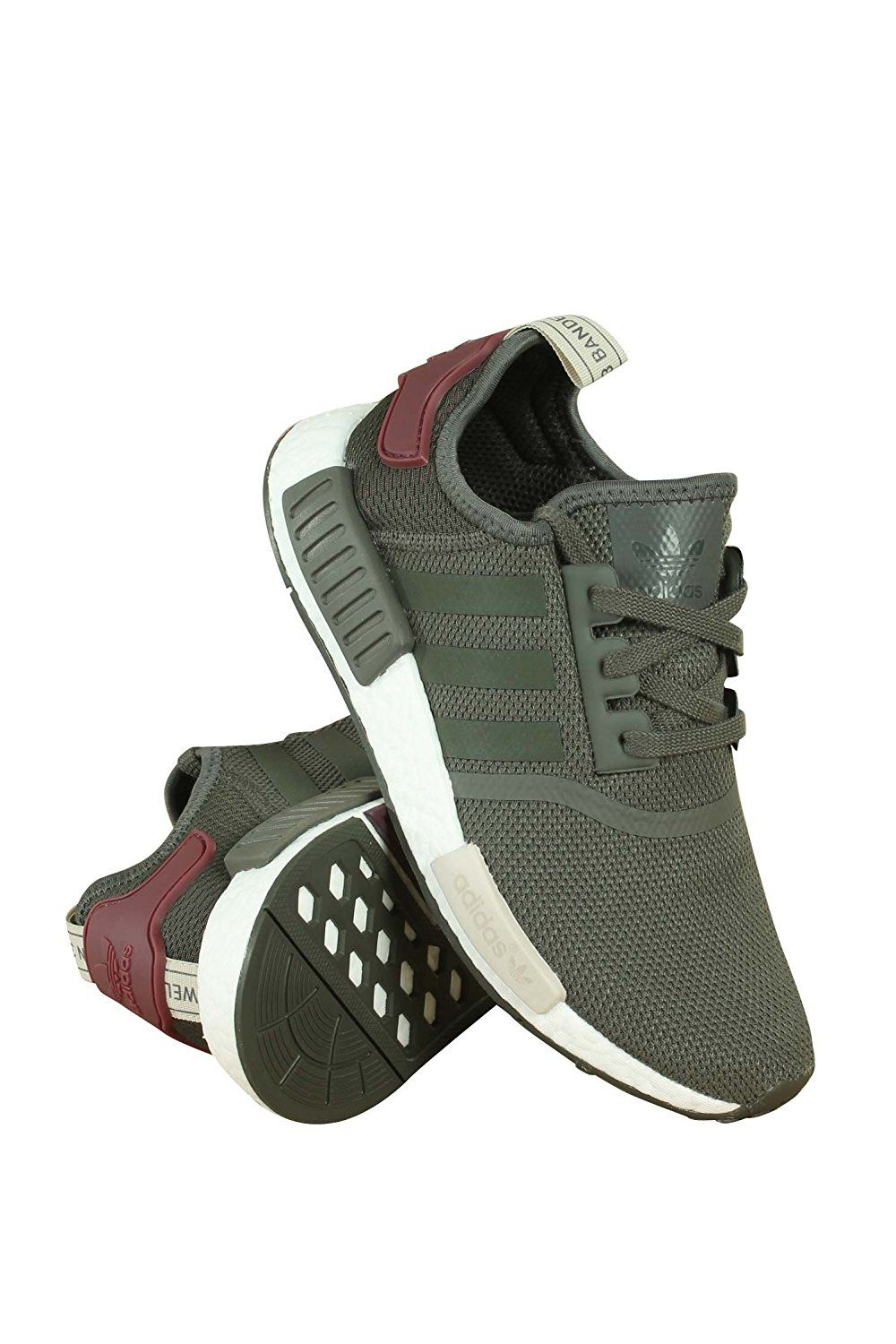 1b67632ad70cb Amazon.com | NMD R1 W Ladies in Utility Green/Maroon by Adidas, 8 ...