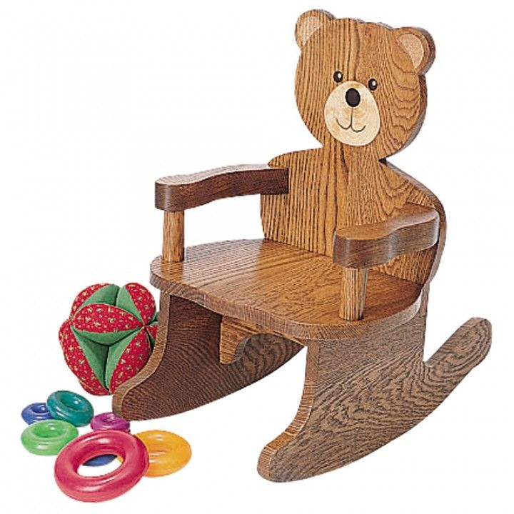 Teddy Bear Rocking Chair Plan : Rockler   $8.39 #diy #Christmas #toddlers