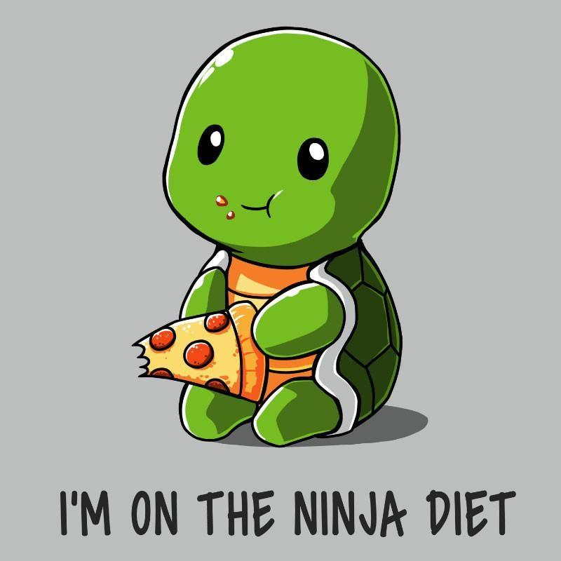 Ninja Diet Funny Cute Nerdy Shirts Cute Drawings Cute Animal Drawings Cute Illustration