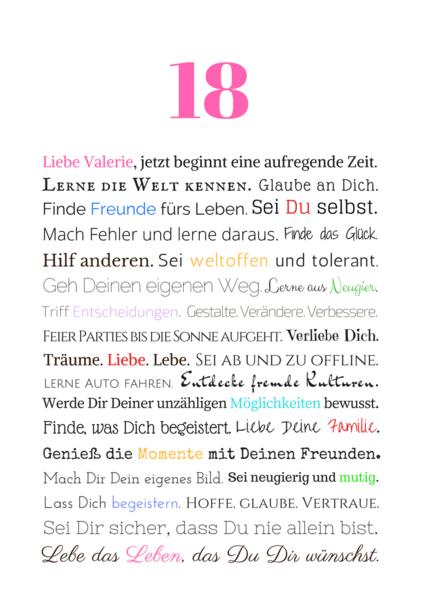 18 Geburtstag Freundin Deknappekikker