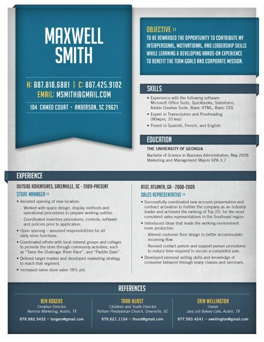 Amazing Resume Template 8