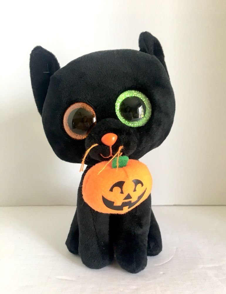 "05a75b3a535 Ty Beanie Boos Shadow The Halloween Black Cat 6"" 2016 Retired  Ty ..."