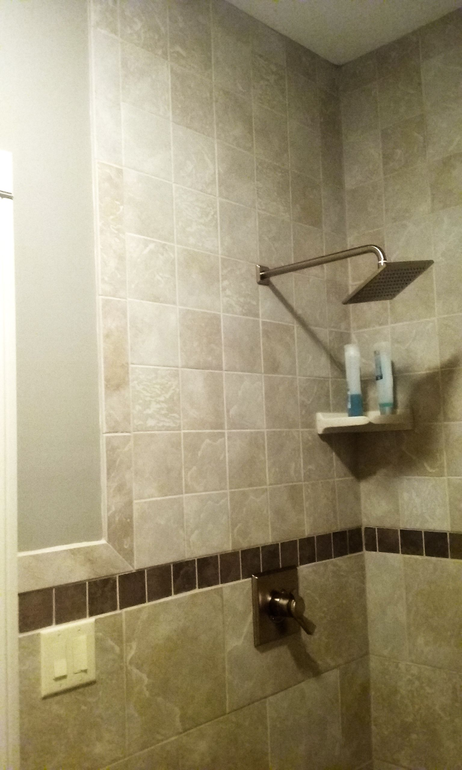 Shower Area Daltile Continental Slate In Egyptian Beige X - Daltile beachwood