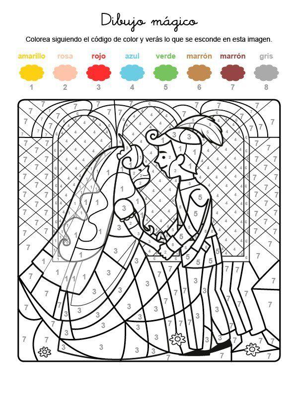Dibujo mágico de boda de príncipes: dibujo para colorear e imprimir ...